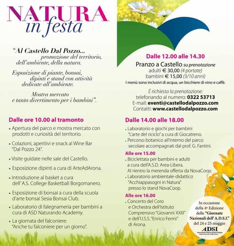 natura in festa evento oleggio castello castello dal pozzo 25 maggio