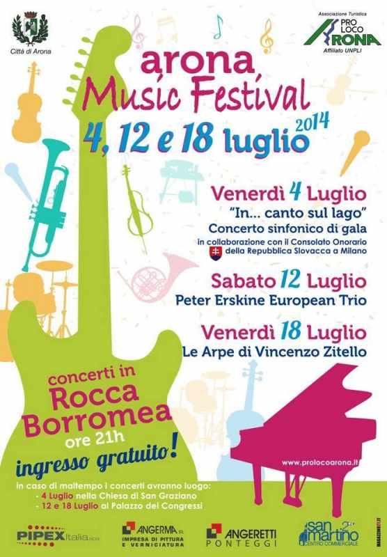 MUSIC FESTIVAL ARONA alla Rocca 4-12-18 Luglio