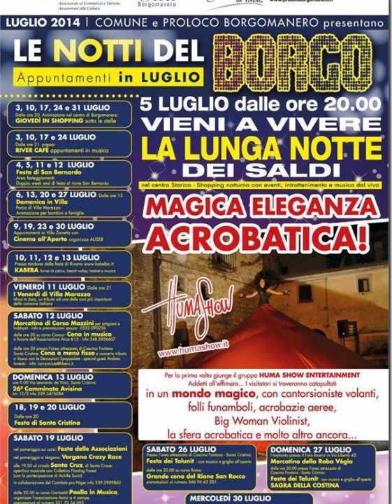 Le Notti Del Borgo Locandina 2014 borgomanero