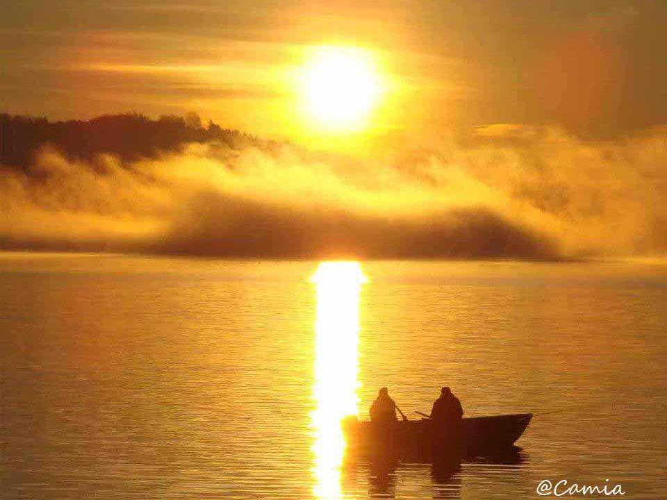 Alba e tramonto sul lago maggiore
