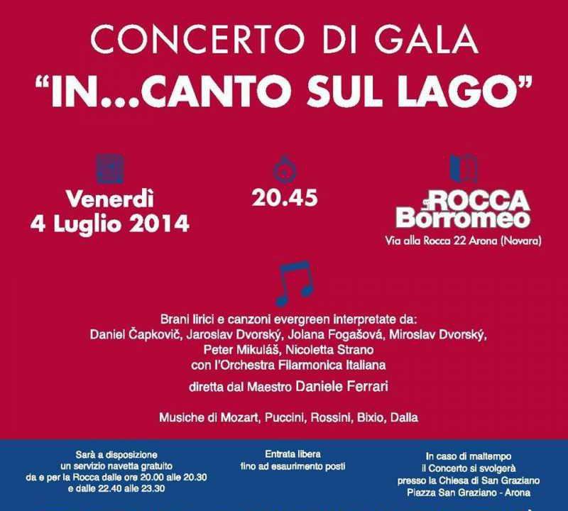 Concerto di Gala IN CANTO SUL LAGO ARONA ROCCCA BORROMEA