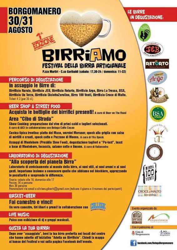 BIRRIAMO FESTIVAL DELLA BIRRA ARTIGIANALE Borgomanero