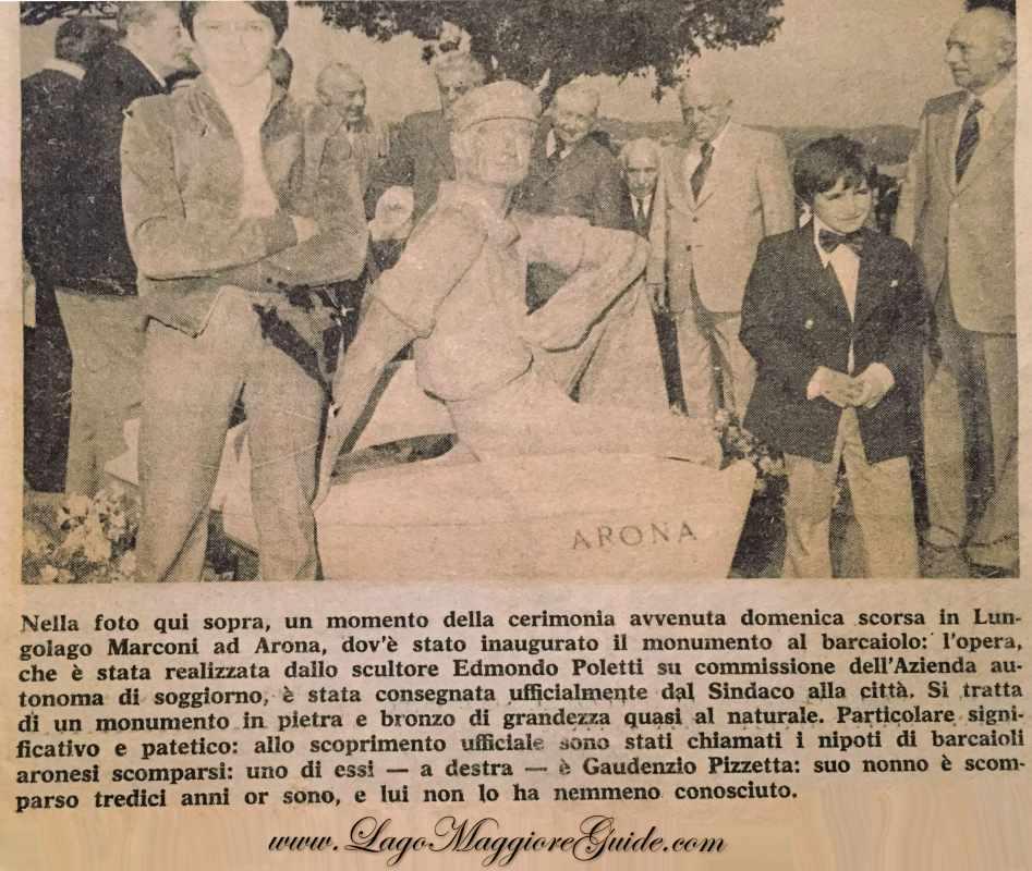 foto storica la stampa statua barcaiolo Arona copia copia