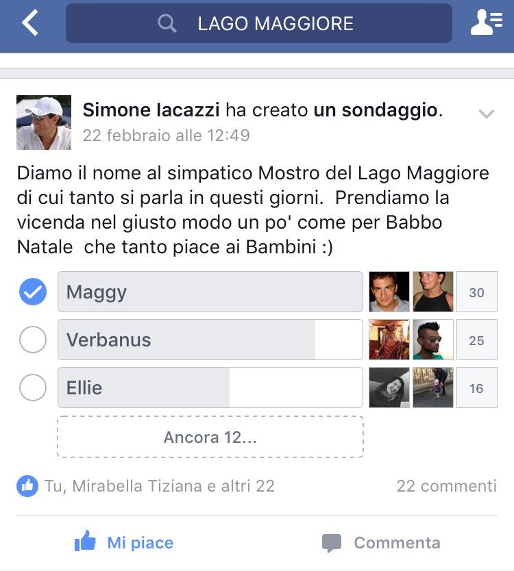 sondaggio mostro del lago Maggiore Maggy
