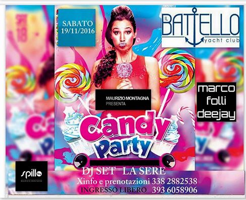 CANDY PARTY al Battello di Arona