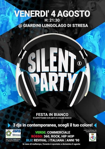 SILENT PARTY STRESA 4 AGOSTO