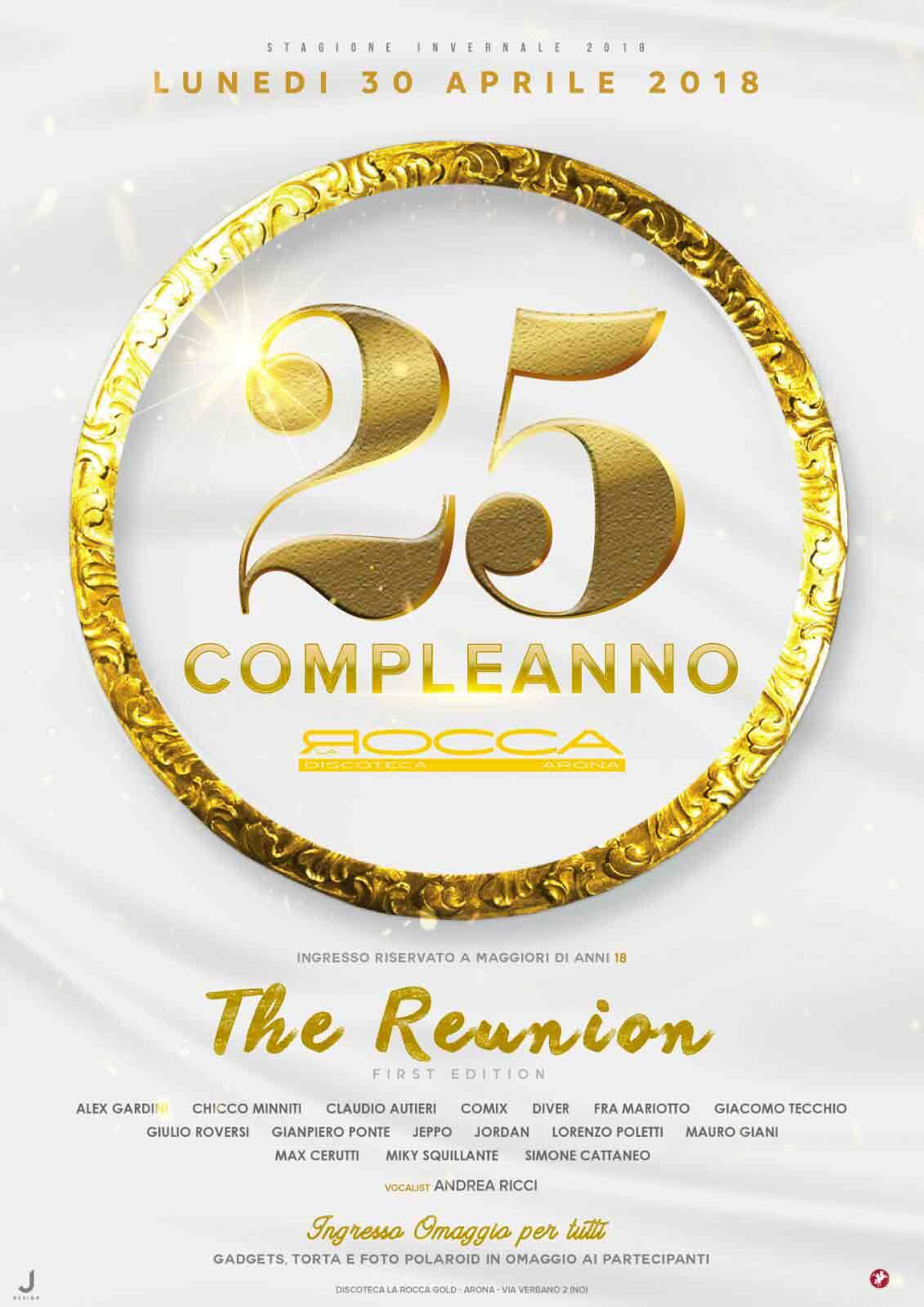flyer invito la rocca discotecha compleanno 25 anni arona