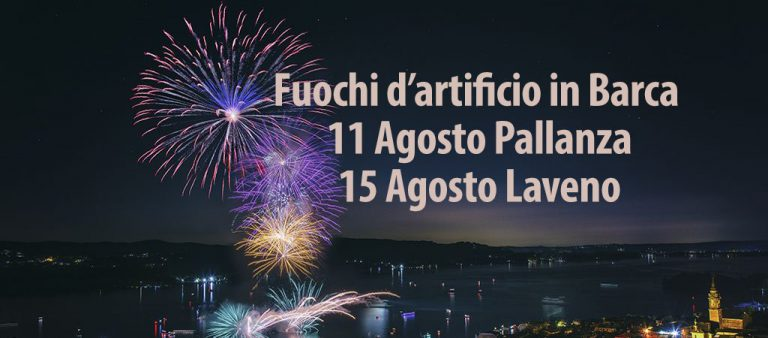 Fuochi d'artificio in barca 11 e 15 Agosto