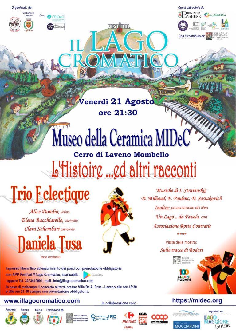 21 Agosto 2020 L'Histoire ed altri racconti … per il Lago Cromatico al Museo MIDeC di Cerro di Laveno